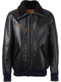 кожаная куртка бомбер  Golden Goose Deluxe Brand