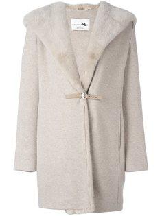 пальто с капюшоном и оторочкой мехом норки Manzoni 24