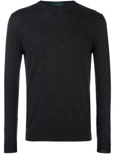 футболка-поло с круглым вырезом Zanone