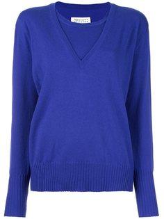 двухслойный свитер  Maison Margiela