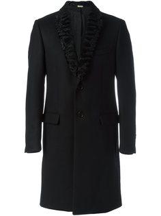 пальто с шерстяными лацканами  Fendi