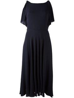 платье миди с вырезом-лодочка Valentino