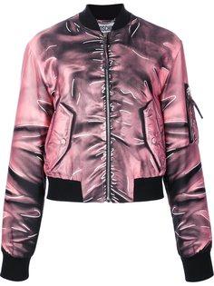 "куртка-бомбер с эффектом ""тромплей"" Moschino"
