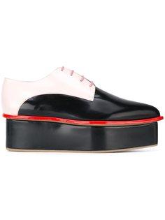 туфли со шнуровкой дизайна колор-блок Delpozo