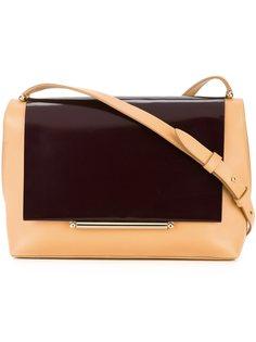 двухцветная сумка на плечо Delpozo