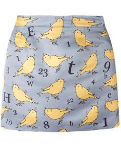 юбка с принтом птиц Au Jour Le Jour