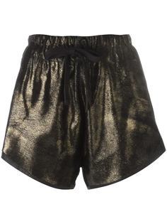 шорты с эффектом золотистый металлик 10Sei0otto