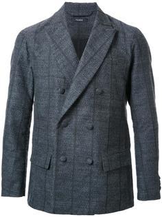 полосатый двубортный пиджак Taakk