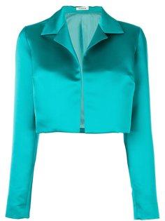 укороченный атласный пиджак P.A.R.O.S.H.