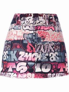 мини-юбка с графическим принтом Giamba