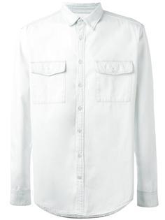 рубашка с логотипом на спине MSGM