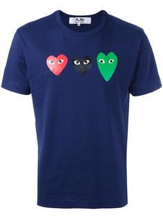 футболка с принтом сердец Comme Des Garçons Play