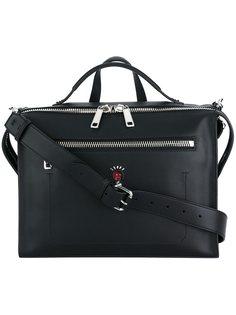 сумка-почтальонка с карманом на молнии Fendi