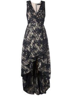платье с V-образным вырезом и асимметричным подолом Alice+Olivia