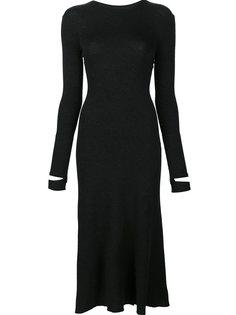 платье с разрезами на манжетах Helmut Lang