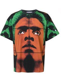 футболка с принтом лица Moschino