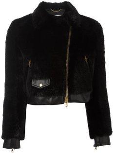 укороченная байкерская куртка Moschino