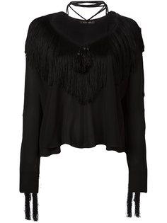 блузка с бахромой Plein Sud