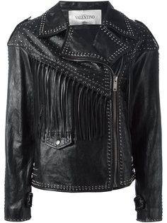 байкерская куртка с заклепками Valentino