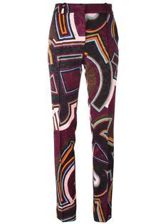 прямые брюки с узором Emilio Pucci