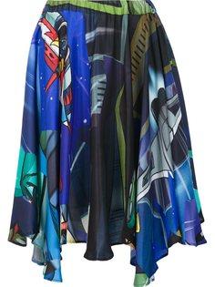драпированная юбка с графическим принтом Julien David