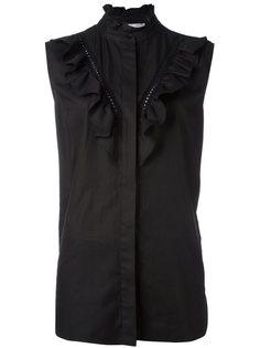 рубашка с оборками без рукавов Stella McCartney