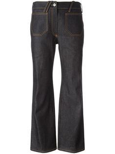 укороченные расклешенные джинсы Courrèges