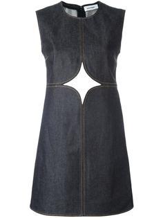 джинсовое платье с декоративными вырезами Courrèges