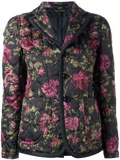 стеганый пиджак с цветочным принтом Comme Des Garçons