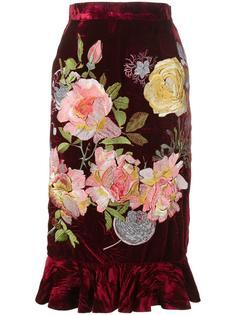 бархатная юбка Delia  Alice Archer