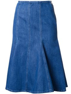 расклешенная джинсовая юбка  Michael Kors