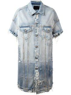 длинная джинсовая куртка R13