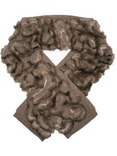кашемировый шарф с соболиным мехом Liska
