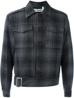 клетчатая куртка с полосатой спиной Off-White