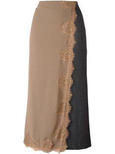 длинная юбка с многослойным эффектом Erika Cavallini