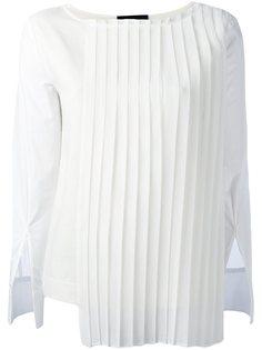блузка с плиссированной панелью Erika Cavallini