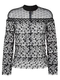 кружевная блузка с цветочным узором Self-Portrait