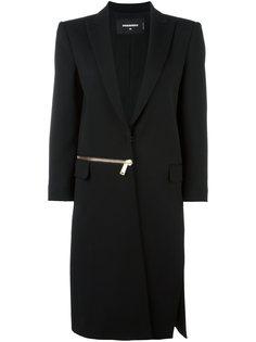 длинное пальто на молнии Miyako Dsquared2