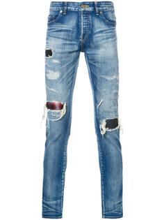 джинсы кроя скинни с потертой отделкой Hl Heddie Lovu
