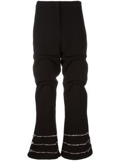 присборенные брюки с молниями JW Anderson