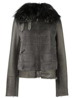 байкерская куртка с меховой отделкой Liska