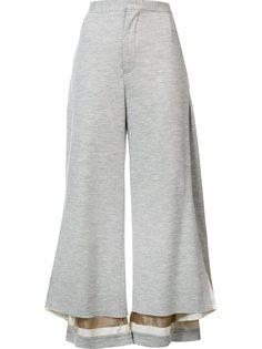 укороченные широкие брюки Undercover