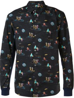 рубашка с космическим принтом Undercover