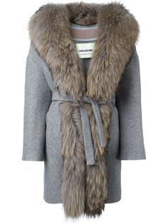 пальто с меховой отделкой Ava Adore