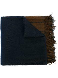 полосатый шарф с необработанными концами Suzusan