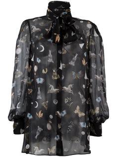 блузка с рисунком Obsession Alexander McQueen