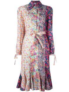 платье-рубашка с цветочным принтом Olympia Le-Tan