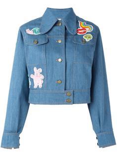 джинсовая куртка с контрастными заплатками Olympia Le-Tan