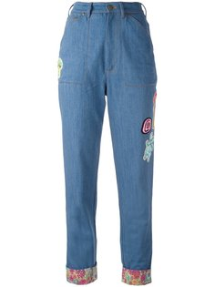 джинсы с заплатками в виде цветка Olympia Le-Tan