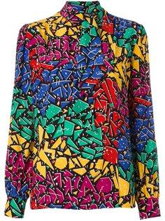 рубашка с узором 80s graffiti Saint Laurent